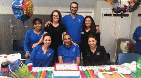 Photo of Dr. Plesset birthday celebration