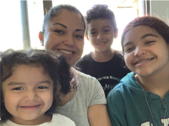 Photo of Maritza and her family