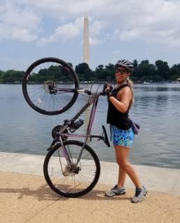 Photo of Regina and her bike