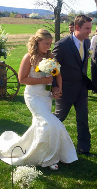Photo of Jessica and Joe on their wedding day