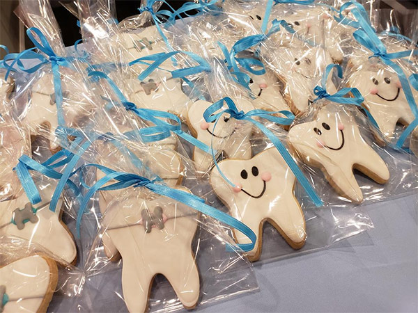 Photo of dental themed cookies