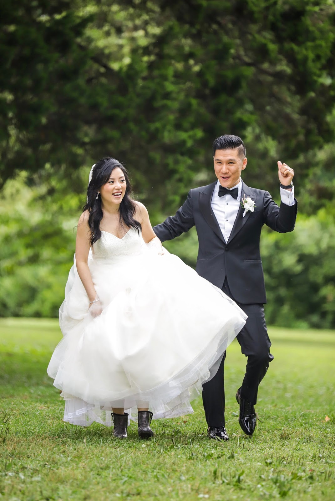Photo of Dr. Brandon Lee and his wife Jie on their wedding day